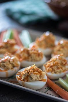 Can't decide between the chicken or the egg? Have both! These Buffalo Chicken Deviled Eggs are everything you love about big game appetizers & so much more!