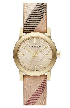 Burberry Small Check Strap Watch, 26mm available at #Nordstrom