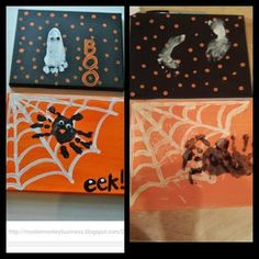 Baby Halloween craft proves to be difficult. #pinterestfail