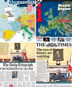 The Guardian. Portada Brexit