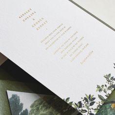 83 отметок «Нравится», 1 комментариев — Rachel Marvin (@rachelmarvincreative) в Instagram: «Foil ✨  Foliage 🌿 . . . #customweddingstationery #customweddinginvitation #weddinginvitation…» Custom Wedding Invitations, Go Green, Reception, Instagram, Personalised Wedding Invitations, Receptions
