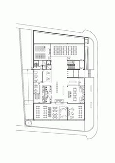 Angel Gonzalez Library / Carlos de Riaño Lozano - ground floor plan