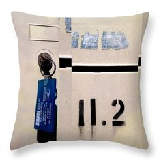 Urban Abstracts Throw Pillow featuring the photograph Urban Abstracts Seeing Double 70 by Marlene Burns