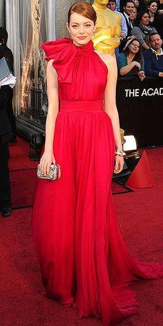 Emma Stone in Giambattista Valli - 2012, Oscars