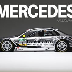 The Mercedes Benz C-Class AMG in 1:43 from Minichamps, driven in 2010 by Ralf Schumacher.