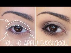 ▶ How to Apply Eyeshadow for Begginers - Simple Tutorial - YouTube