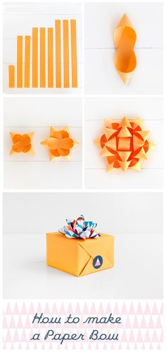 Top 10 diy gift projects pinterest wrapping paper bows paper create a diy paper bow mightylinksfo