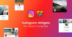 Instagram Widgets for Visual Composer Wordpress Plugin by unitecms The best way to showcase your Instagram Account inside of Visual Composer page builder. Choose from 8 customisable Instagram Widget layouts we created just for your needs. This pack is truly awesome and unique in its design and u