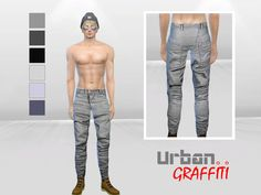 McLayneSims' Asymmetrical Wax Coated Pants