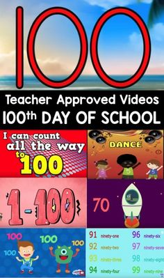 Day Videos Day Of School Video List For Kids This Teacher Approved List Is All About The Number 100 Perfect For Preschool Kindergarten And First Grades Kindergarten Teachers, Kindergarten Activities, Teaching Math, Maths, Teaching Ideas, Preschool Songs, Preschool Science, Teaching Music, Preschool Learning
