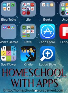 Homeschool With Apps Do you feel like your kids are constantly on their electronic devices? Why not use that to your advantage with homeschool with apps so that Learning Apps, Kids Learning, Learning Tools, Learning Activities, Homeschool Apps, Homeschooling Resources, Games For Moms, Home Schooling, Home Economics