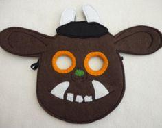 Gruffalo geïnspireerd voelde masker, kostuum voor kinderen