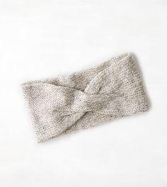 Soft Shimmer Knit Headband- grey heather
