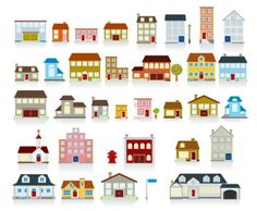 vector-of-a-variety-of-small-house_34-23638.jpg (626×517)