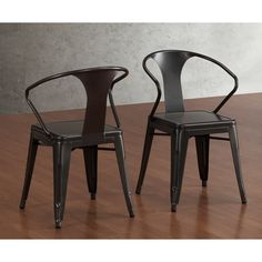 Tabouret Charcoal Grey Stacking Chairs (Set of 4) | Overstock.com Shopping - Great Deals on Dining Chairs