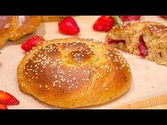 Τσουρέκια γεμιστά, με αλεύρι ολικής και μέλι, χωρίς μίξερ Hamburger, Youtube, Recipes, Food, Greek, Kitchens, Essen, Burgers, Eten