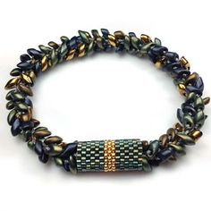 Best Seed Bead Jewelry 2017 News and Such: Peyote Stitch The 2 Needle Method for Odd-Count Peyote