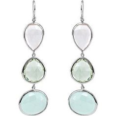Genuine Aquamarine Dangle Earrings