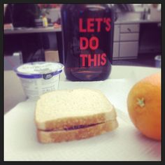 Lunch! #letsdothispbjthing #yummy #its5oclocksomewhere #wholewheat #peanutbutterjellytime