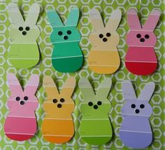 Paint chip bunny garland click pic for 25 easy easter crafts for kids to ma Easter Crafts For Adults, Easter Projects, Easter Art, Crafts For Kids To Make, Easter Crafts For Kids, Toddler Crafts, Preschool Crafts, Easter Bunny, Easy Crafts