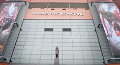 Sir Alex Ferguson statue in front of the Sir Alex Ferguson stand. Sir Alex Ferguson Stand, Manchester United Football, Professional Football, Old Trafford, Man United, The Unit, Seasons, Revolution, Statue