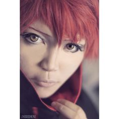 Sasori Close Up   Wig from @circusdoll_store  Contacts from @honeycolor_official -------------- #narutocosplay #sasori #sasoricosplay #sasoriakasuna #sasorioftheredsand #akatsuki #akatsukicosplay #naruto #redhair #costest #cosplay #coser #cosplaymakeup #anime #animecosplay #manga #mangacosplay #game #gamecosplay#circusdoll