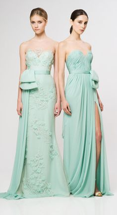 Get inspired: Reem Acra (@Reem_Acra) RTW 2013.. Mint perfection for bridesmaids! #wedding