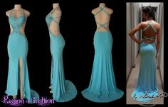 Sexy turquoise matric farewell dress
