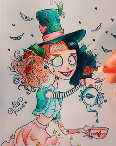 "15k Likes, 186 Comments - Alef Vernon (@alefvernonart) on Instagram: ""My concept art for Mad Hatter by @littlebodybigheart inspired by Alice in Wonderland …"""