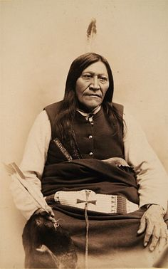 Photograph of Chief Two Strike, Brule Sioux, member of the Sioux Delegation to Washington, D.C., 1891. Caption on verso: J.N. CHOATE, 17 W. MAIN ST., CARLISLE, PA.
