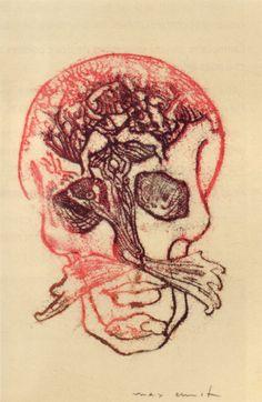 Max Ernst, frottage skulls for Benjamin Peret's Je Sublime (1936)