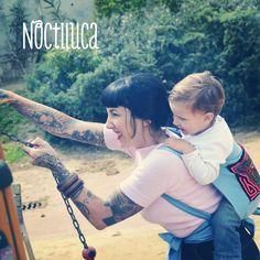 Foto by Noctiluca Trapitos #porteo #babycarrier #noctilucatrapitos #rikinodelamuerte