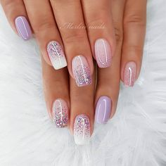 In look for some nail designs and ideas for your nails? Here is our set of must-try coffin acrylic nails for modern women. Pink Nails, Glitter Nails, My Nails, Ombre Nail Art, Glitter Ombre Nails, Glitter French Manicure, Fall Nails, Gel Manicure, Summer Nails