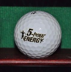5 Hour Energy logo golf ball. TaylorMade Lethal