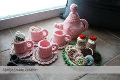 Make It: Tea Time Play Set - Free Crochet Pattern #crochet #kids #free