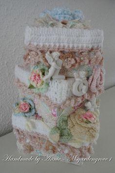 Handmade crochet Shabby Chic stack  box cover created by Annie(Msgardengrove1)
