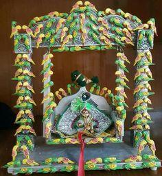 Hare krishna Krishna Gif, Hare Krishna, Krishna Images, Diwali Decorations, Festival Decorations, Janamashtami Decoration Ideas, Janmashtami Celebration, Janmashtami Decoration, Laddu Gopal Dresses