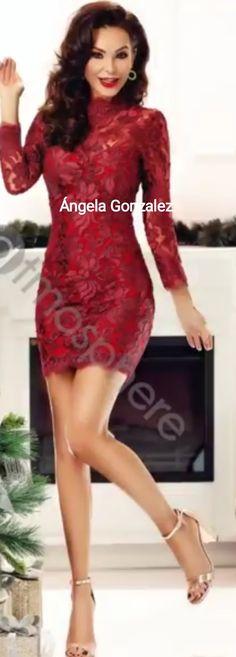 ##Elegante ##vestido ##encaje ##fiesta ##ceremonia ##tendencia ##moda ##fashi...