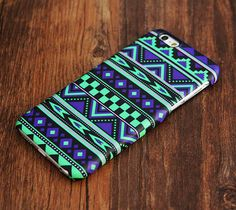 Green And Violet Aztec Ethnic iPhone 6 Plus 6 5S 5C 5 4 Protective Case – Ac.y.c