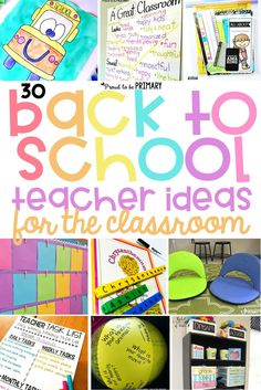 30 back to school teacher ideas for the classroom. Plan your first days with engaging activities for kids, community building ideas,  classroom management tricks, organizational tips, and more! #backtoschool #classroommanagement #classroomorganization #communitybuilding