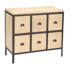 Sterling Industries Chest 6 Drawers With Iron Frames.