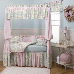 Love Birds Crib Bedding   Carousel Designs  Like the fabric on the window treatment!