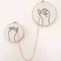 Simple Embroidery, Hand Embroidery Stitches, Embroidery Hoop Art, Cross Stitch Embroidery, Embroidery Patterns, Hand Embroidery Flowers, Hand Embroidery Designs, Red String Of Fate, 7 Arts