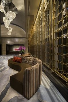 Pin by home design ideas on hotel decor inspirations painel Design Hotel, Lobby Design, Restaurant Design, Lobby Interior, Luxury Interior, Interior Architecture, Contemporary Interior, Hotel Decor, Commercial Design