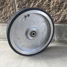 """10"""" Belt Grinder RUBBER Covered Wheel for 2x72"""" knife making grinder - Knife Grinder Parts.com"""