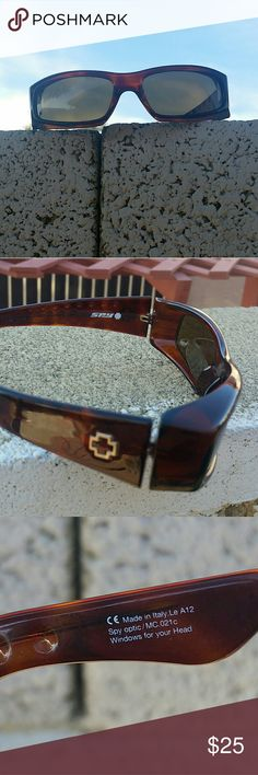 Spy Sunglasses Brown  Bronze Used but in good condition spy Accessories Glasses