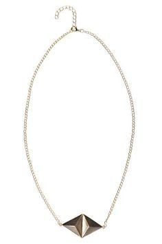 Ashley Stud Pendant Necklace at boohoo.com