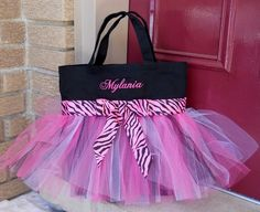 Adorable dance tote