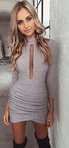 #summer #tigermist #outfits | Gret Ribbed Mini Dress