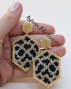 Beaded Earrings Patterns, Seed Bead Earrings, Diy Earrings, Jewelry Patterns, Bracelet Patterns, Earrings Handmade, Diy Schmuck, Schmuck Design, Bead Jewellery